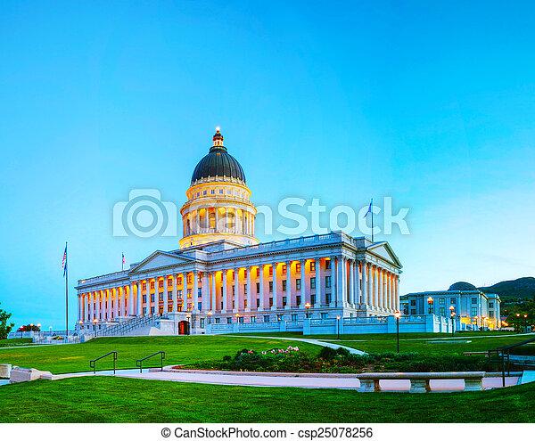 Utah state capitol building in Salt Lake City - csp25078256