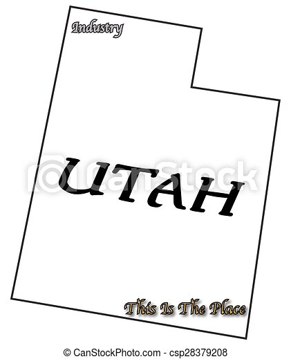 utah state slogan and motto a utah state outline with motto and