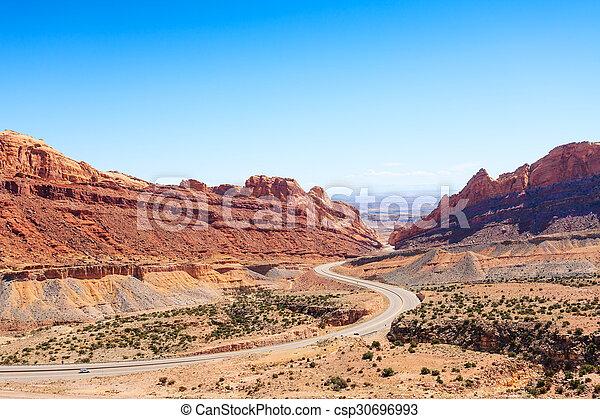 Utah USA passage through spotted wolf canyon - csp30696993