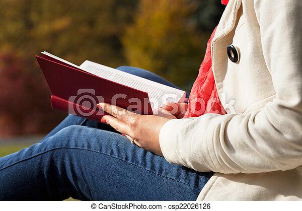utanför, läsning - csp22026126