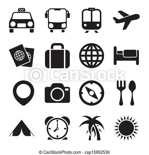 utazás icons - csp15952536