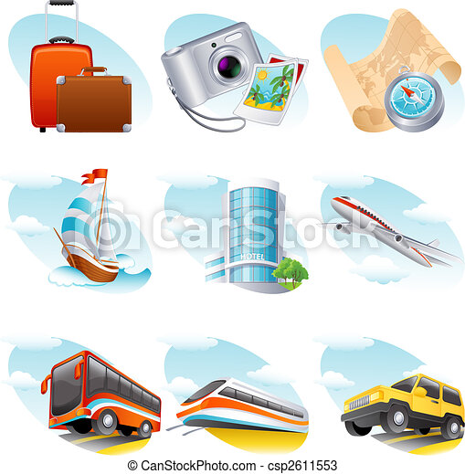utazás, ikon - csp2611553