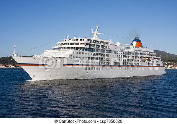 utazás, tenger, szállítás, hajó cruise - csp7358820