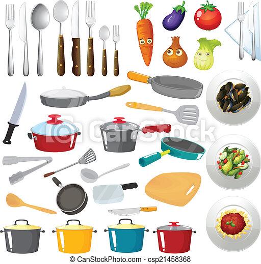 Utensilios cocina untensils ilustraci n cocina for Utensilios de cocina casa joven