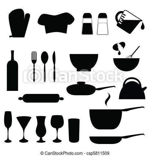 Utensilios cocina utensilios vario silueta cocina for Utensilios de cocina logo