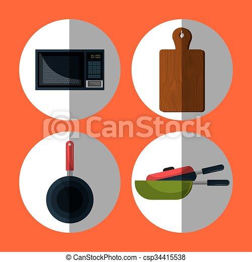 utensilios, diseño, cocina