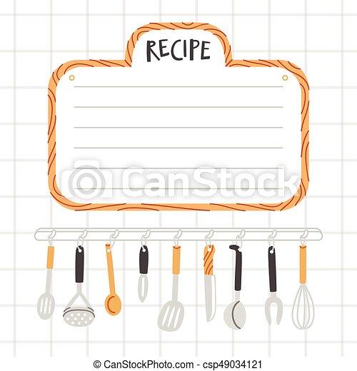 Utensilios receta plantilla cocina for Plantillas de cocina