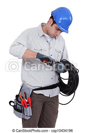 utilisation, électricien, pinces - csp10434196