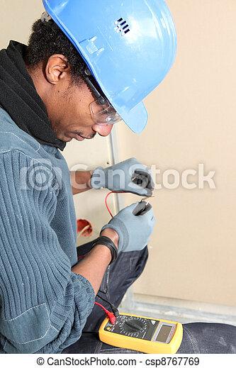 utilisation, électricien, voltmètre - csp8767769