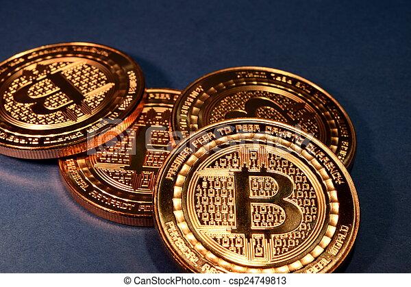 utilisation, paiement, monnaie, bitcoin, virtuel - csp24749813