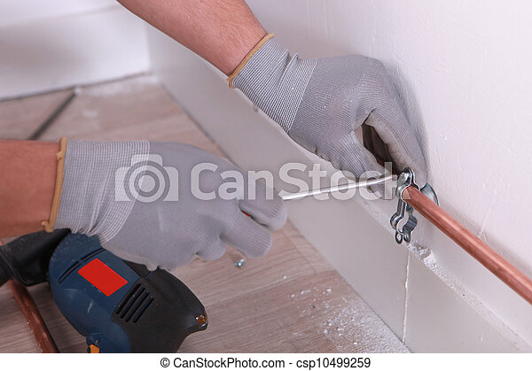 utilisation, plombier, tournevis - csp10499259
