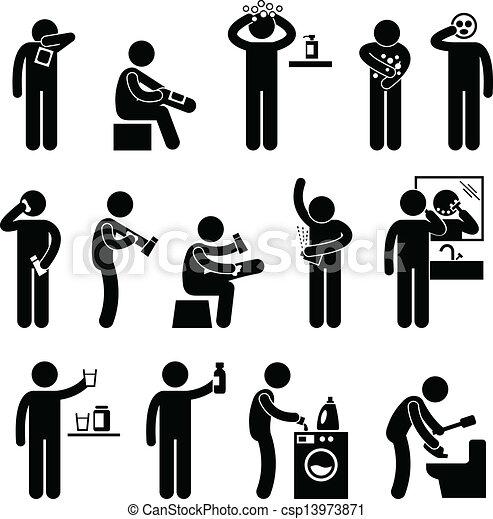 utilisation, produit, homme, healthcare - csp13973871