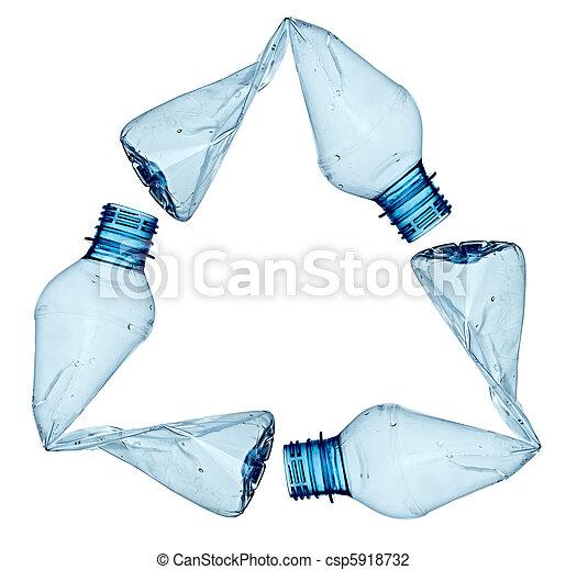 utilizado, ambiente, ecología, botella, basura, vacío - csp5918732