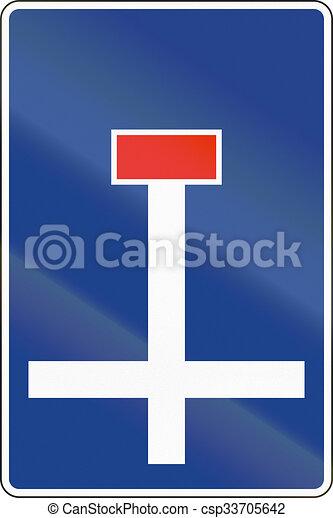 Señal de carretera usada en España - callejón sin salida - csp33705642