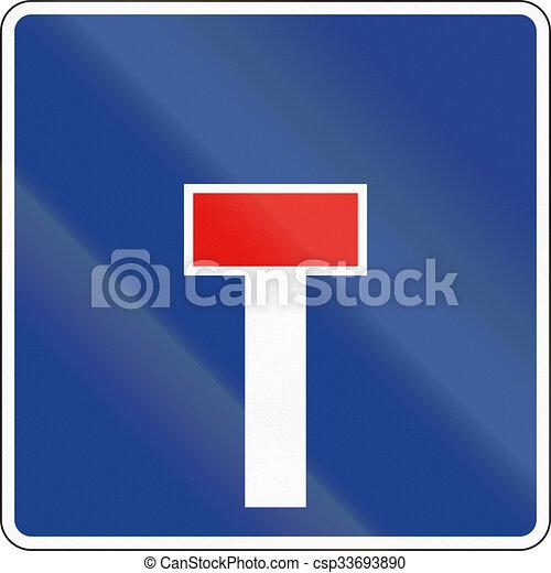 Señal de carretera usada en España - callejón sin salida - csp33693890