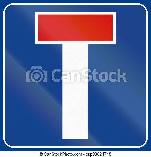 Señal de carretera usada en Italia - callejón sin salida - csp33624748