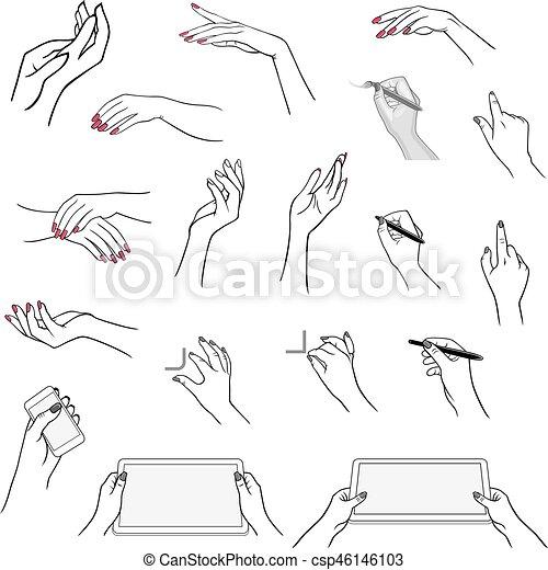 Utilizar Dibujo Dispositivos Manos Tableta Medios