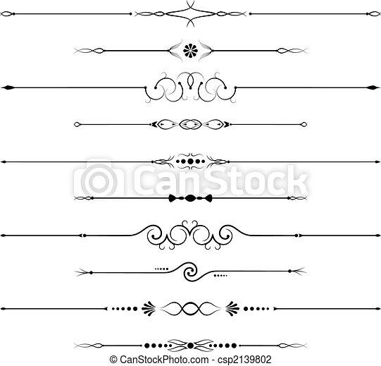 utsmyckningar, sida - csp2139802