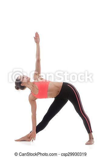 utthita trikonasana extended triangle pose sporty yoga