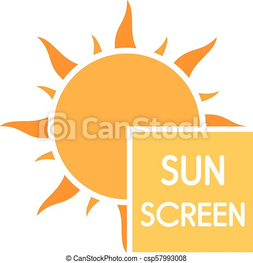 EPS Illustration - Protected skin with sunscreen lotion. Vector Clipart  gg73497500 - GoGraph