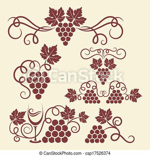 Elementos de uva - csp17526374