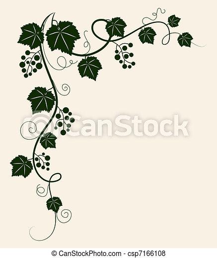 Hermoso viñedo de uva. - csp7166108