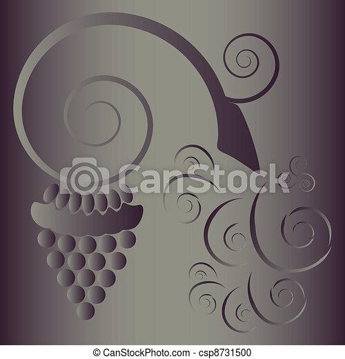 Ornamento de uva - csp8731500