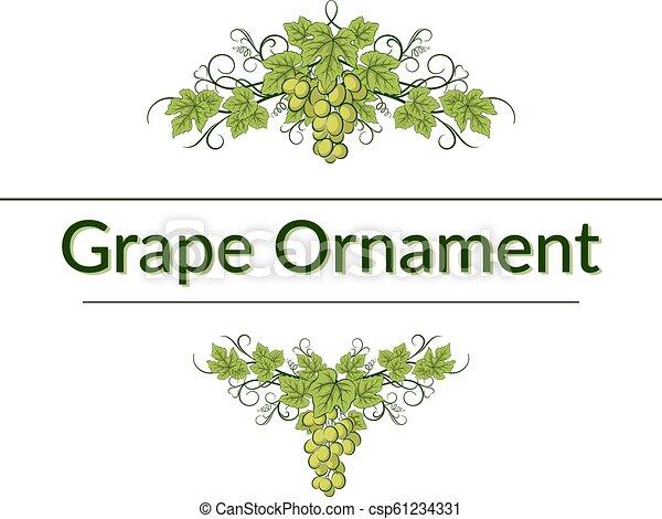 Ornamento de uva - csp61234331