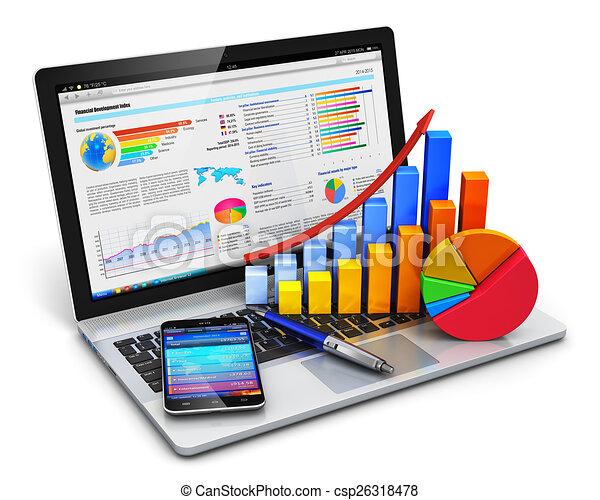 uważając, pojęcie, finanse, handlowy - csp26318478