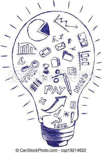 uważając, symbol, finanse, & - csp19214822