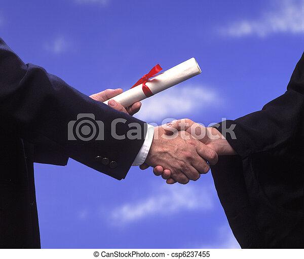 uzgodnienie, dyplom, skala - csp6237455