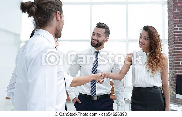 uzgodnienie, handlowy, powitać, inny, każdy, kobiety - csp54626393