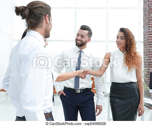 uzgodnienie, handlowy, powitać, inny, każdy, kobiety - csp54599026