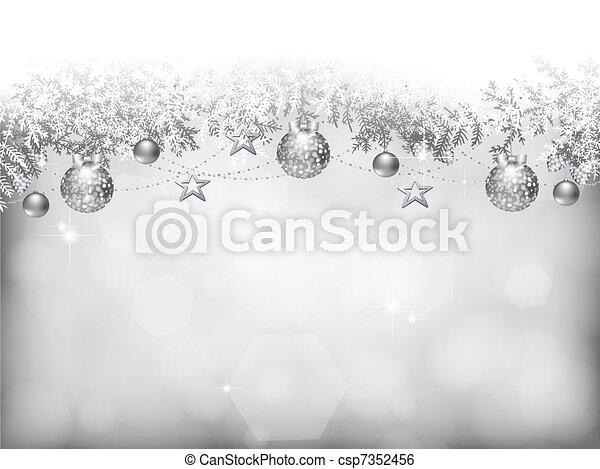 vánoce, grafické pozadí - csp7352456