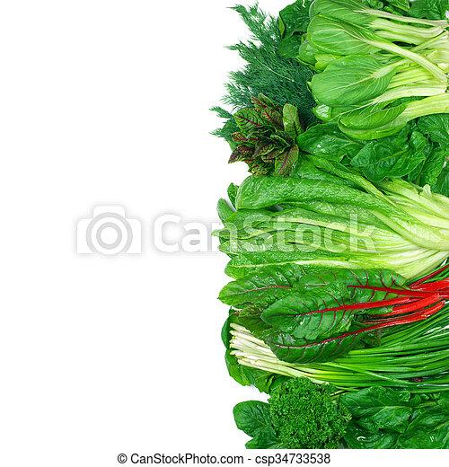 vário, legumes, frondoso - csp34733538