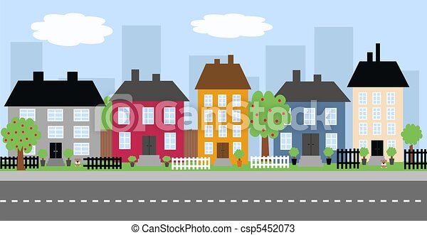 város égvonal - csp5452073