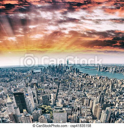 város, épületek, -, york, új, manhattan - csp41835158