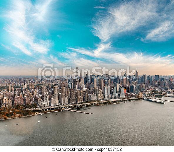 város, épületek, -, york, új, manhattan - csp41837152