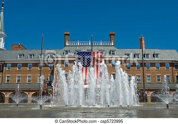 város, öreg város, feléledés, gyarmati, virginia, előszoba, alexandria, style. - csp5723995