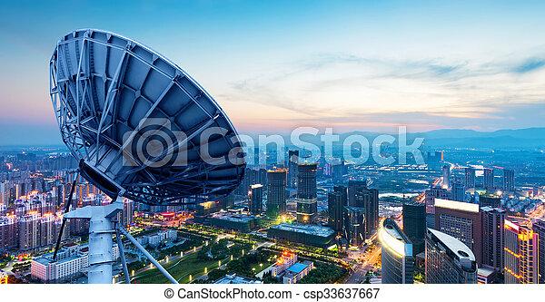 város, kína, állati tüdő, nanchang - csp33637667
