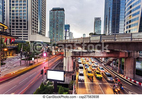 város, modern, forgalom, nyomoz - csp27563938