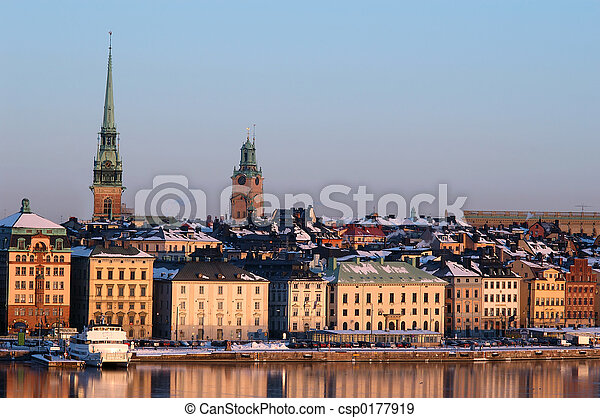 város, stockholm - csp0177919