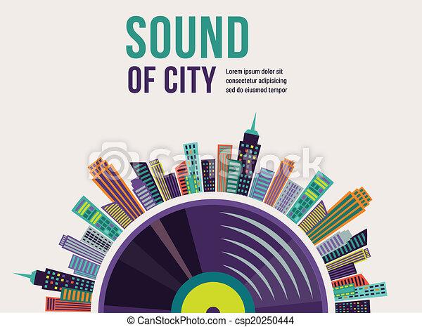 város, zene, táj, háttér - csp20250444