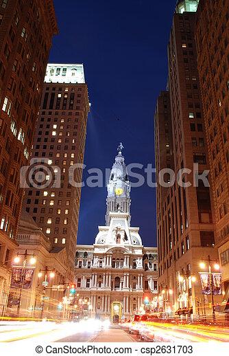 városháza, philadelphia - csp2631703