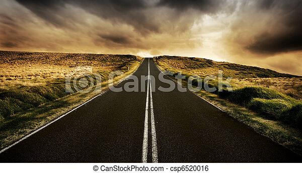 väg, länge - csp6520016