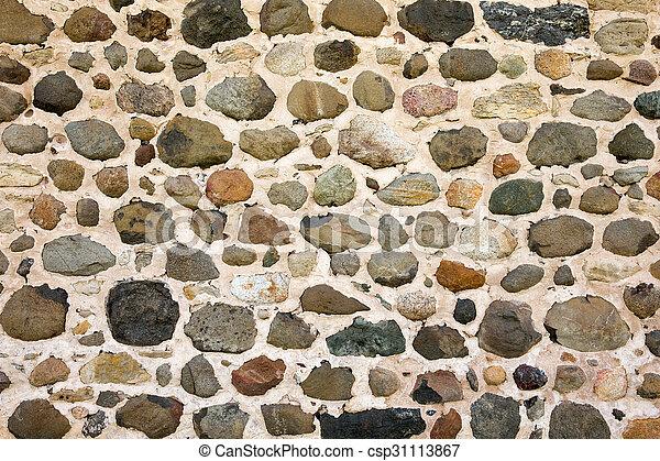 vägg, bakgrund, sten, fält - csp31113867