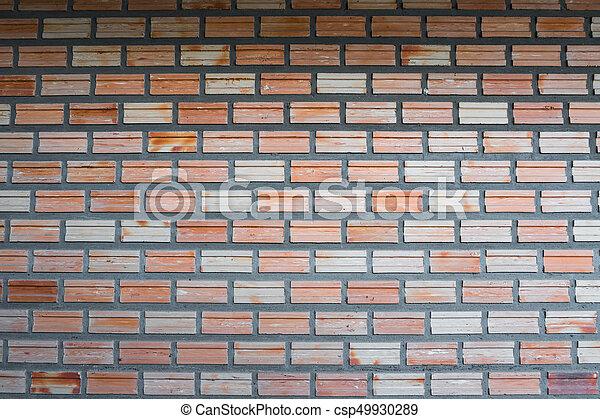 vägg, bakgrund., tegelsten, struktur - csp49930289