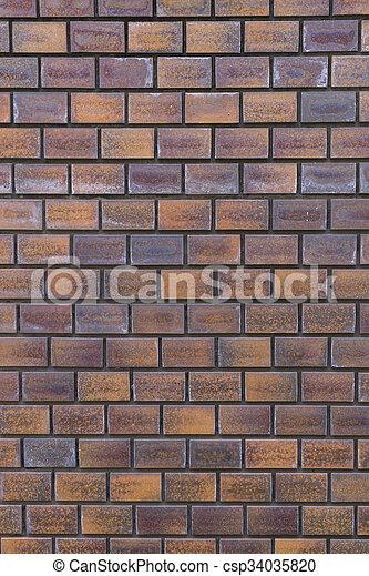 vägg, bakgrund., tegelsten, struktur - csp34035820
