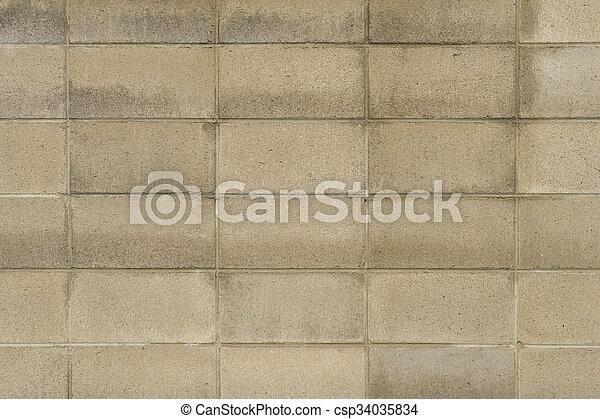 vägg, bakgrund., tegelsten, struktur - csp34035834