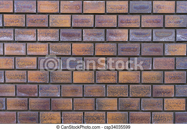 vägg, bakgrund., tegelsten, struktur - csp34035599
